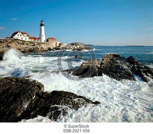 Portland Head Lighthouse Cape Elizabeth Maine USA