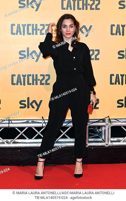 Cristiana Dell'Anna during the Red carpet for the Premiere of film tv Catch-22, Rome, ITALY-13-05-2019