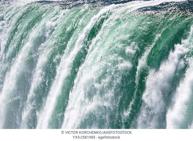 Niagara Falls. Close view of Horseshoe Falls from Canadian side