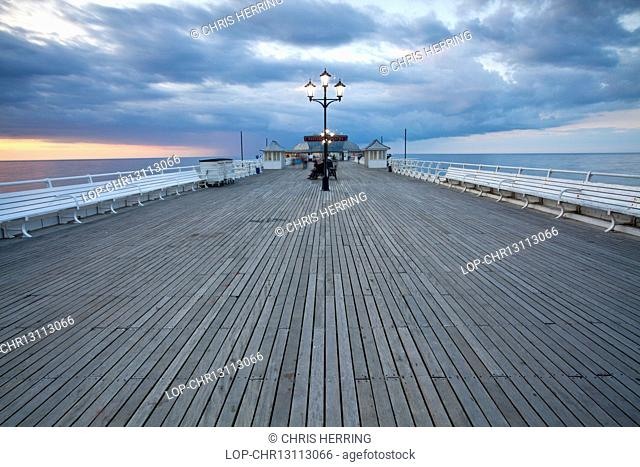 England, Norfolk, Cromer. Cromer Pier at dusk on the north Norfolk coast