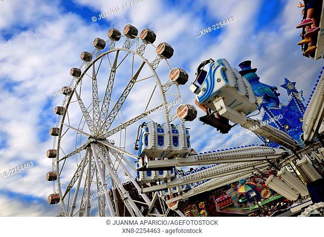 Ferris Wheel, Bilbao, Biscay, Basque Country, Euskadi, Spain, Europe