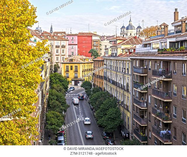 Calle Segovia de Madrid, Spain