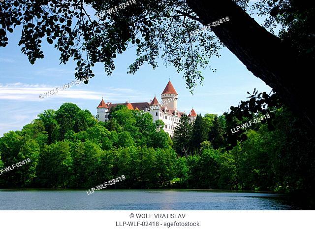 Chateau Konopiste, the Central Bohemia, Czech Republic