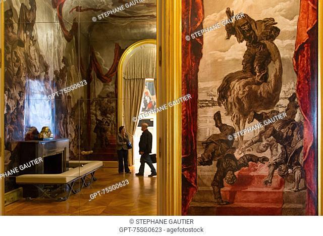 BALLROOM AT THE HOTEL DE WENDEL, CARNAVALET MUSEUM, HOTEL LE PELETIER DE SAINT FARGEAU, 3RD ARRONDISSEMENT, PARIS (75), ILE-DE-FRANCE, FRANCE