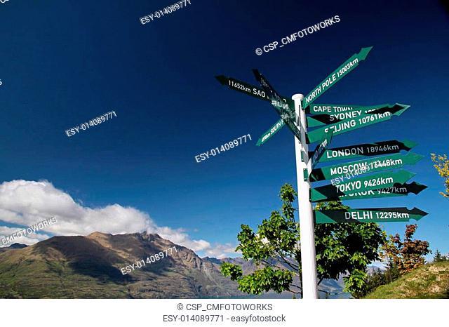 Signpost at Bobs Peak