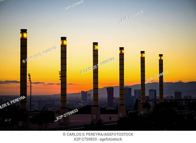 Olympic Park of Montjuic in Barcelona Catalonia Spain