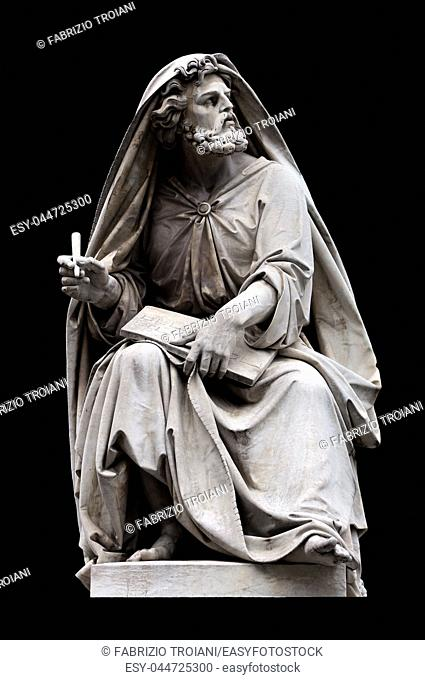 Isaiah by Salvatore Revelli on the base of the Colonna dell'Immacolata, Rome Italy