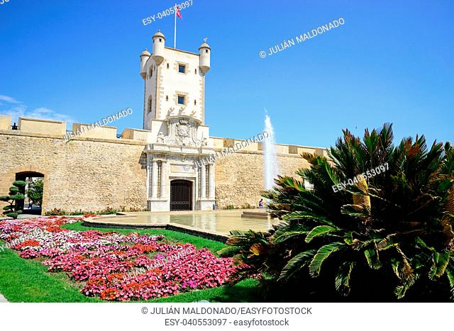 Puerta de Tierra Monument in the city of Cádiz