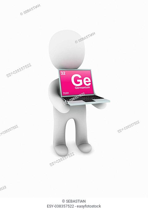 germanium symbol on screen laptop