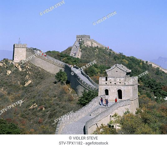 Asia, Badaling, Beijing, Peking, China, Great Wall of China, Great Wall, Heritage, Holiday, Landmark, Tourism, Travel, Unesco, V