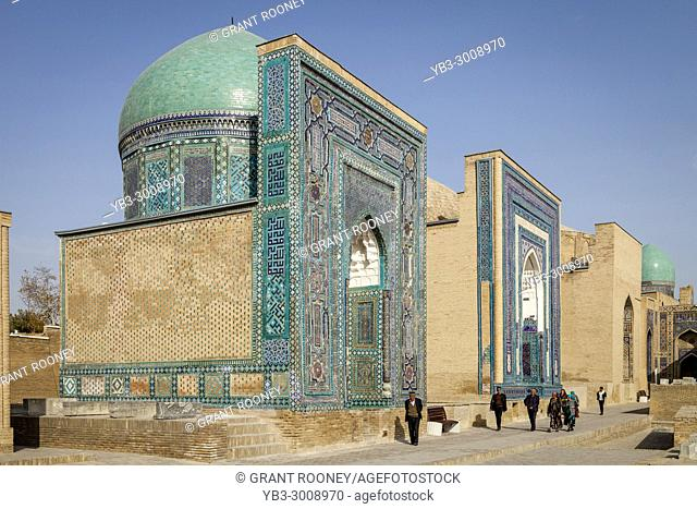 The Avenue Of Mausoleums, The Shah-i-Zinda Mausoleum Complex, Samarkand, Uzbekistan