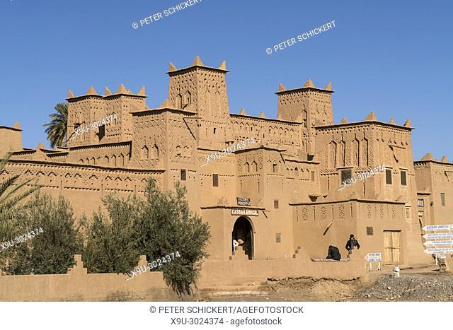 Kasbah Amerhidil or Imridil, Skoura oasis, Ouarzazate, Kingdom of Morocco, Africa