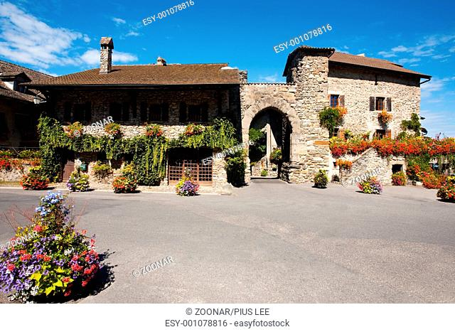 Medieval Village Yvoire Front Gate