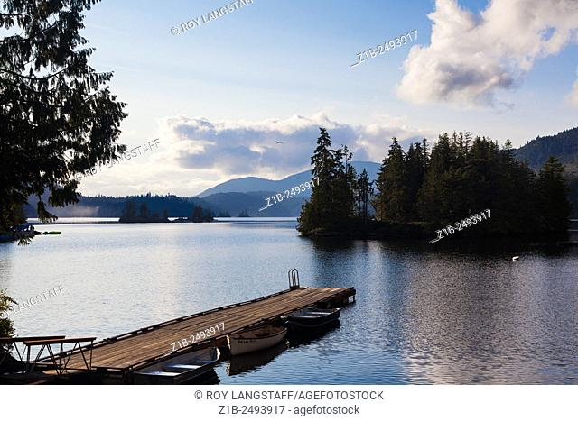 Ruby Lake on the Sunshine Coast of British Columbia, Canada