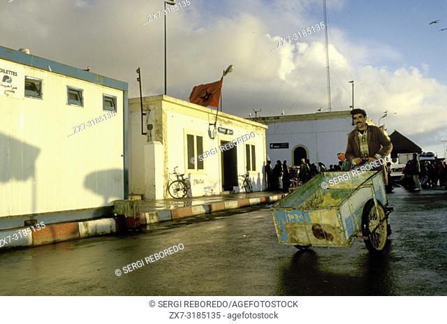Port Skala fishing harbour, Essaouira, Morocco, Africa