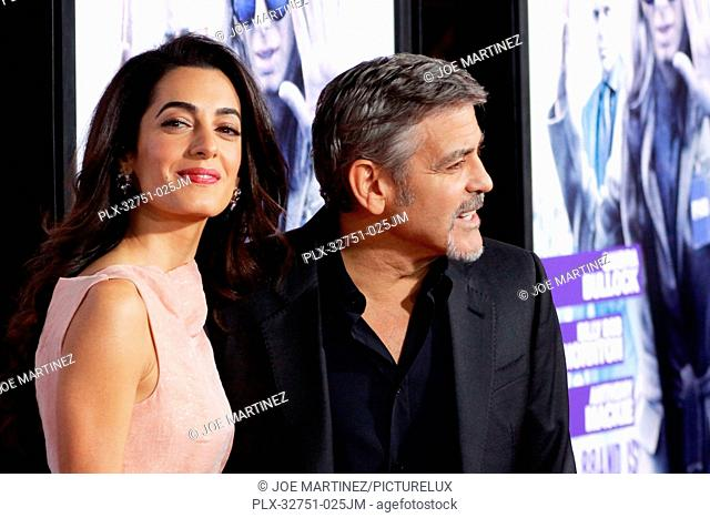 Amal Clooney and George Clooney at the Premiere of Warner Bros. Pictures' Our Brand is Crisis held at the TCL Chinese Theater in Hollywood, CA, October 26, 2015