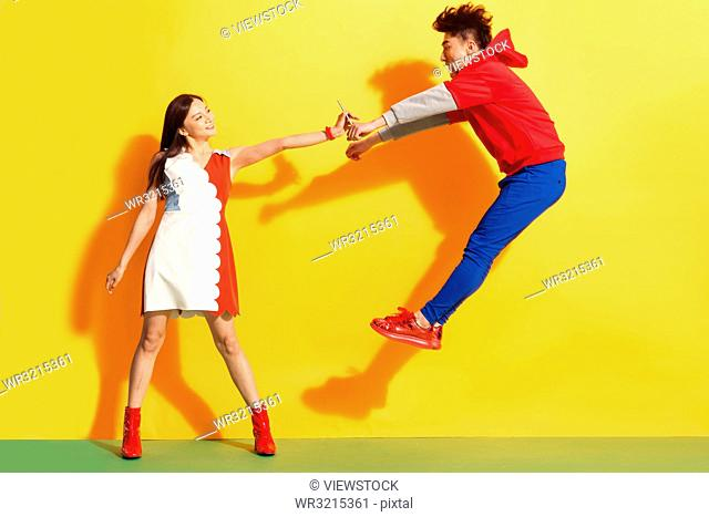 Fighting, young couples