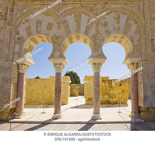 Ruins of Medina Azahara, palace complex built by caliph Abd al-Rahman III. Cordoba province, Andalucia, Spain
