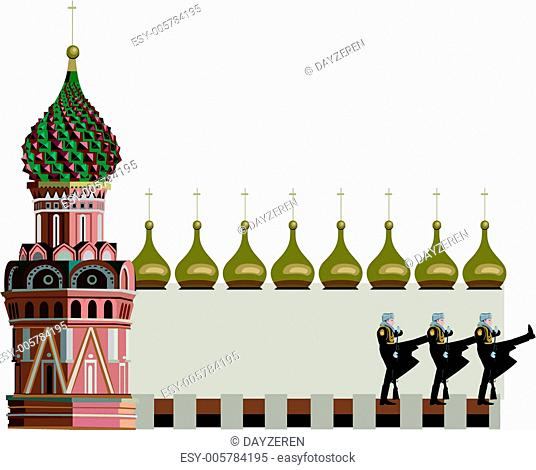 Kremlin Tower and Russian Soldiers