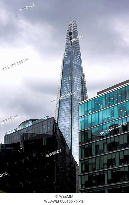 England, London, Southwark, view to 'The Shard' at More London Riverside
