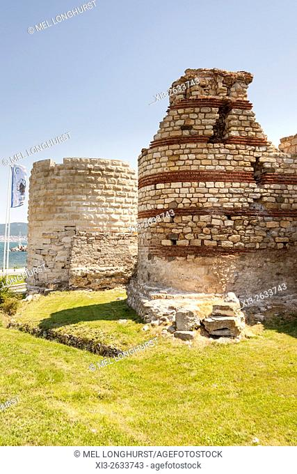 Remains of ancient fortress walls, Nessebar, Bulgaria