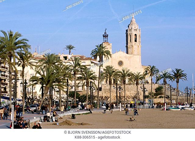 Church of Sant Bartomeu. Sitges. Barcelona province, Spain