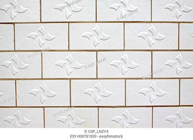 white ceramic tile wall