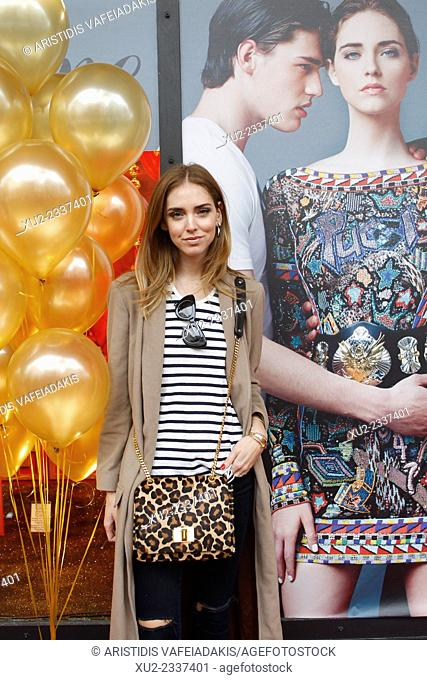 CHIARA FERRAGNI signals the beginning of the Christmas period at a central department store. Chiara Ferragni is a widely-followed blogger and fashion designer...