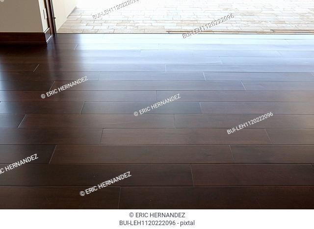 Detail shot of wooden floor at home; Newport Beach; California; USA