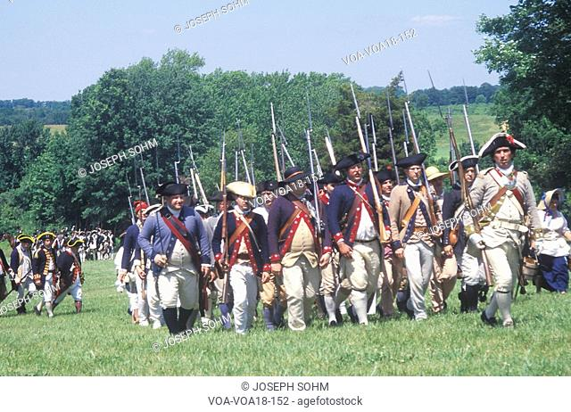American revolution reenactment Stock Photos and Images