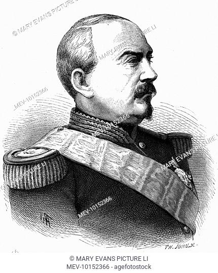 ACHILLE-FRANCOIS BAZAINE French soldier in Crimea, Mexico, Italy, but defeated in war with Prussia, court- martialled, imprisoned : escaped, lived in exile