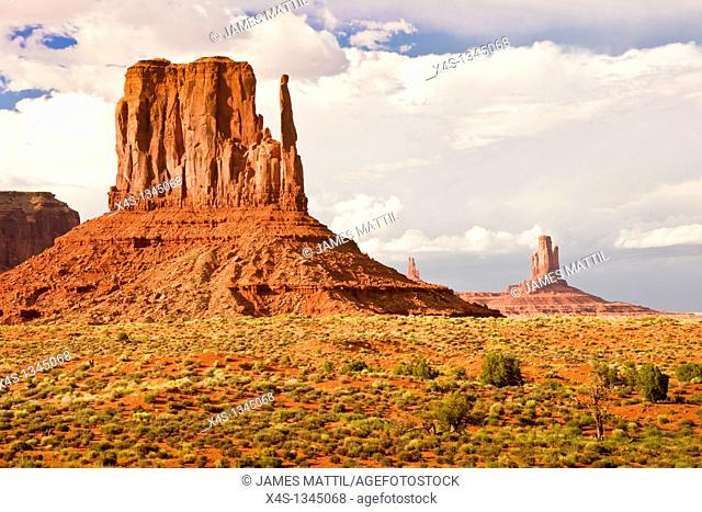 Iconic western landscape in Monument Valley