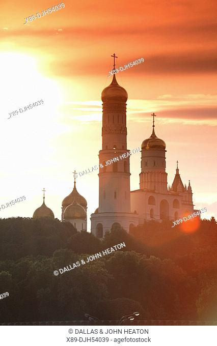 Russia, Moscow, The Kremlin, Ivan The Great Bell Tower, Sunset