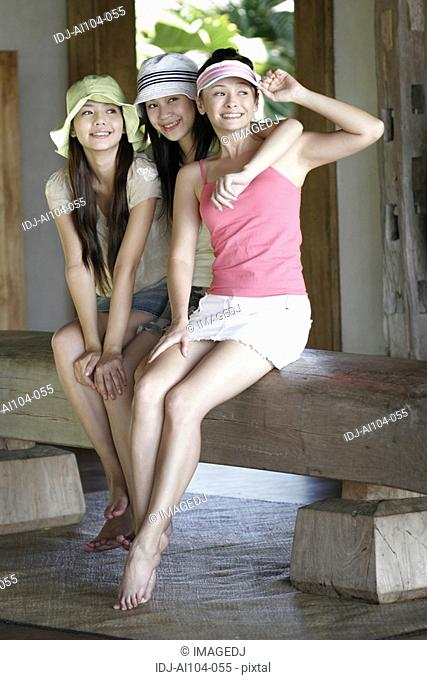 View of young women smiling