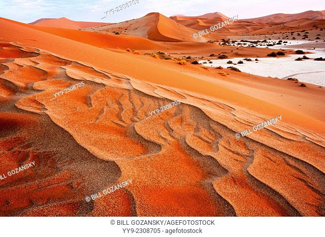 Sand Dune Patterns - Sossusvlei National Park - Namib-Naukluft National Park, Namibia, Africa