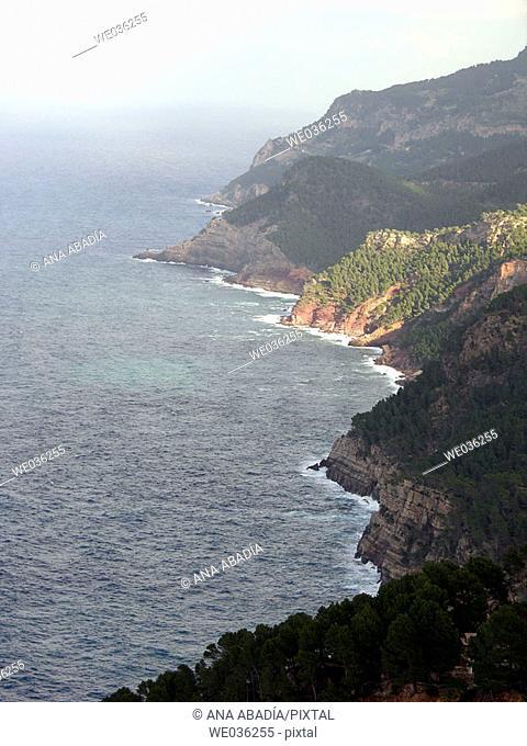 Serra de Tramuntana coast, Majorca. Balearic Islands, Spain