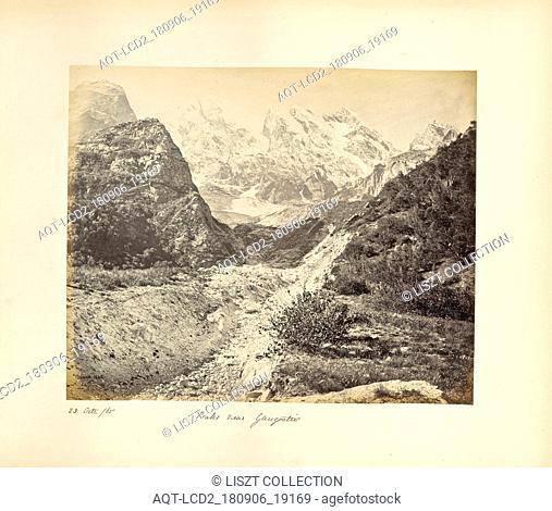Snowy Peaks near the Gangootri Glacier; Samuel Bourne (English, 1834 - 1912); Uttarakhand, India, Asia; October 23, 1865; Albumen silver print