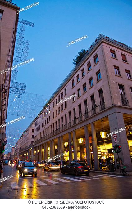 Via Roma main street Turin city Piedmont region northern Italy Europe