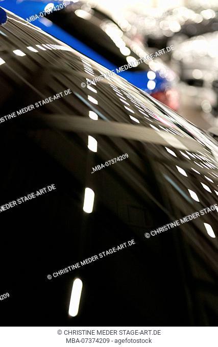 Reflection windshield, parking garage