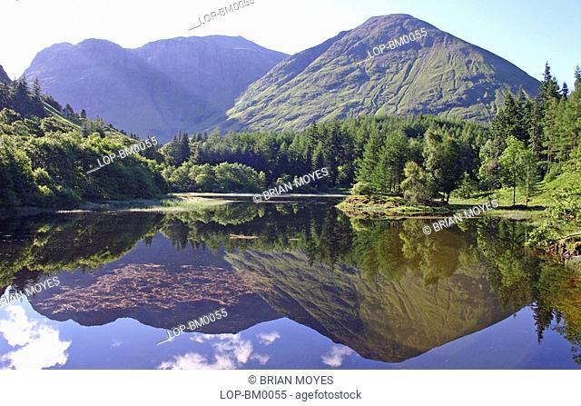 Scotland, Highland, Glen Coe, A view toward a Glen Coe lochan