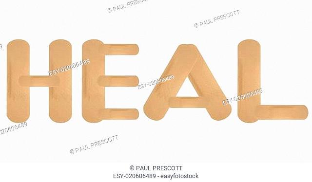 Healing plaster band aids