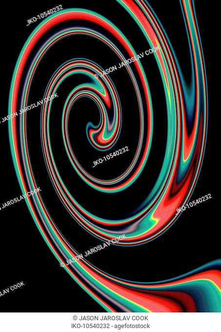 Abstract multi coloured spiral pattern