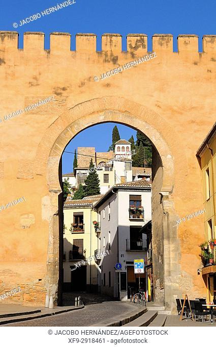 Puerta de Elvira. Elvira Gate. Granada. Andalucía. Spain