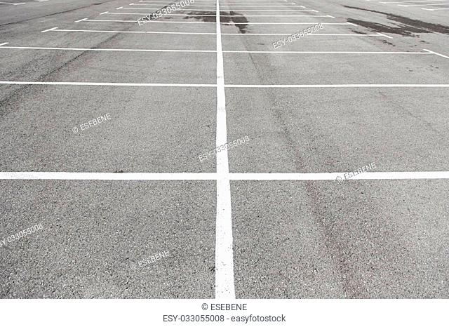 Parking lines on the asphalt, details of circulation signals