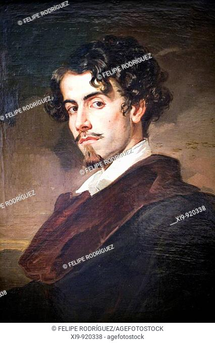 Portrait of poet Gustavo Adolfo Becquer painted by his brother Valeriano Becquer (1862), Fine Arts Museum, Seville, Spain