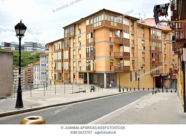 Ollerias Bajas Street, Bilbao, Biscay province, Basque Country, Euskadi, Spain, Europe