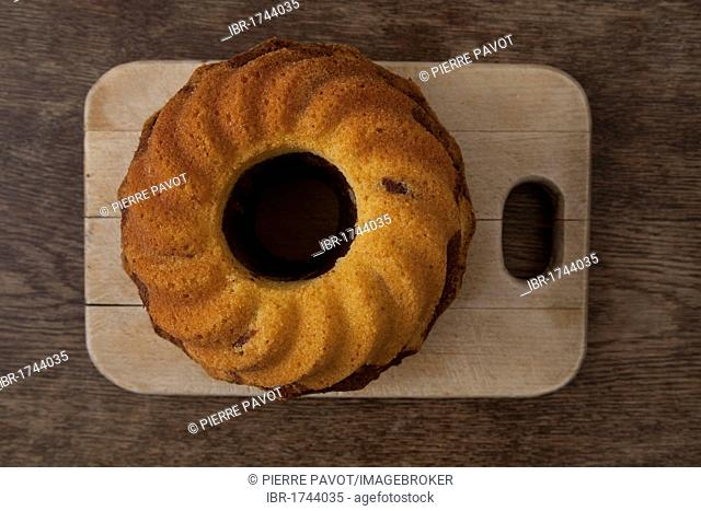 Gugelhupf cake or bundt cake