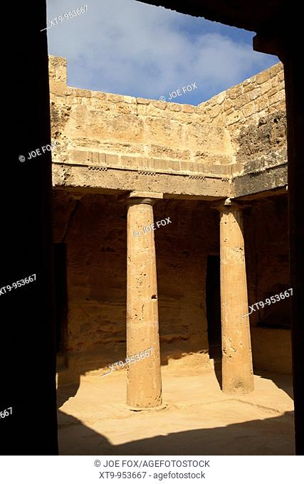 tomb 3 of tomb of the kings world heritage site paphos republic of cyprus europe