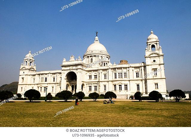 Victoria memorial. the most famous landmark in the city of Kolkata ( Culcutta )