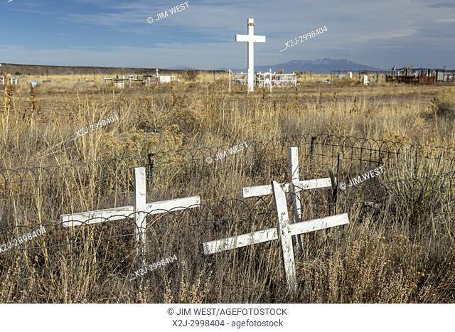 Las Mesitas, Colorado - Crosses in Las Mesitas Catholic Cemetery